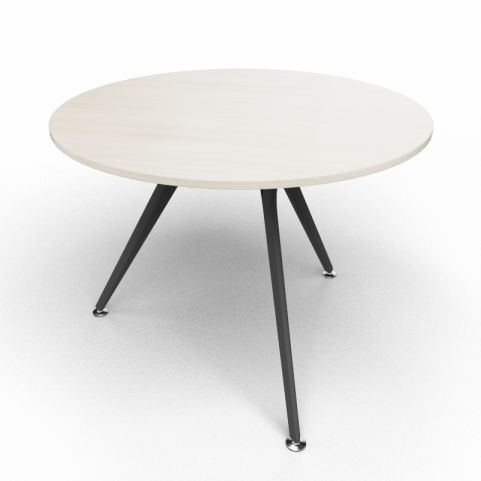 Arkitek Circular Executive Table In Lime Oak With Black Legs