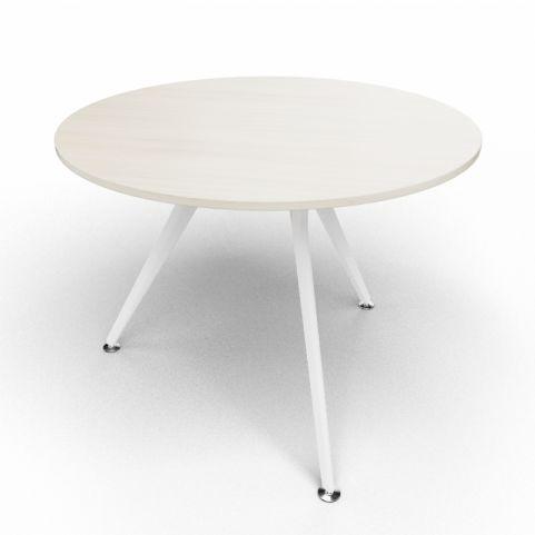 Arkitek Circular Executive Table In Lime Oak With White Legs