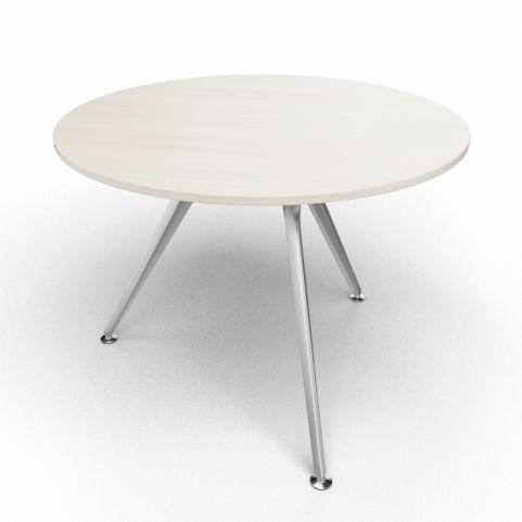 Arkitek Circular Executive Table In Lime Oak With Silver Legs