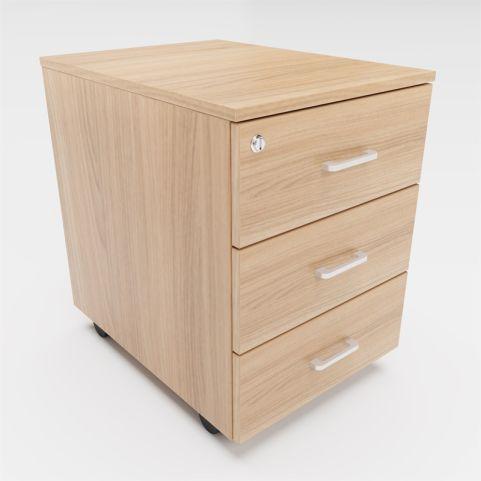 Arkitek 3 Drawer Mobile Pedestal In Chestnut