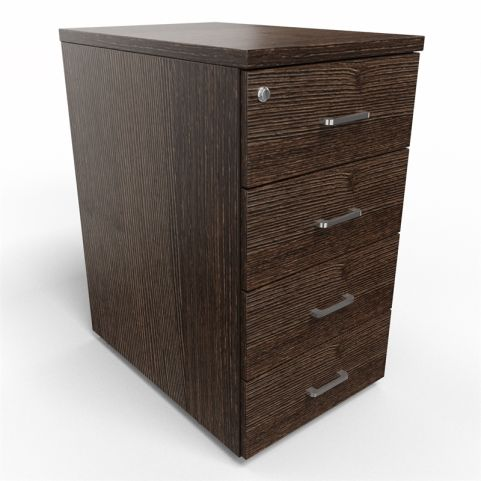 Arkitek 4 Drawer Desk Height Pedestal In Dark Oak