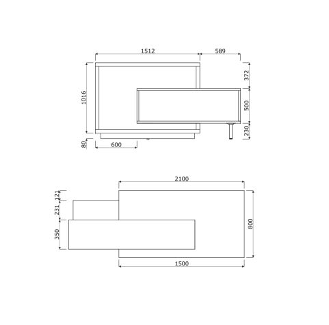 Foro Reception Desk Dimensions