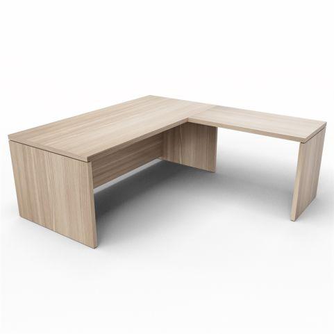 Lithos Desk With Return Extension In Oak