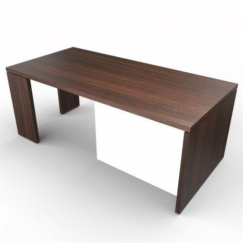 Lithos Presidential Desk In Dark Oak + White