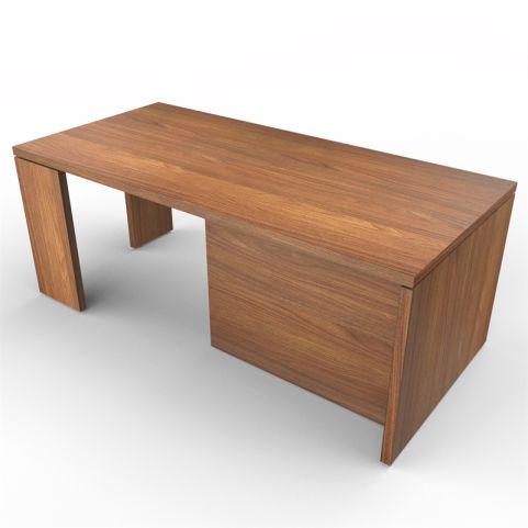 Lithos Presidential Desk In Natural Walnut