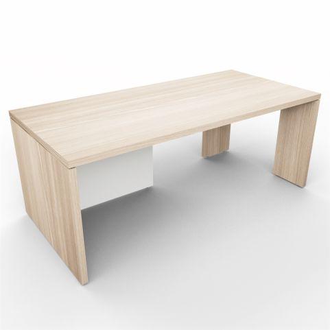 Lithos Presidential Desk In Oak + White - Shot 2