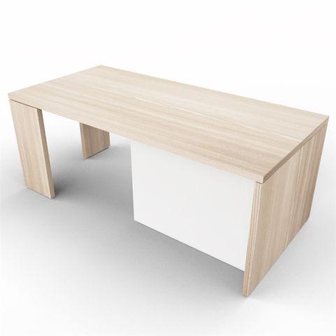 Lithos Presidential Desk In Oak + White