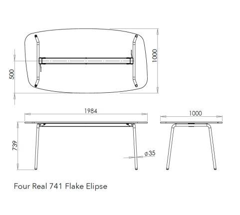 Flake Elipse Table