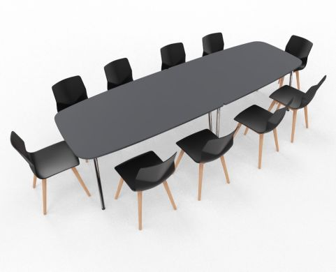 Four Real Table Ellipse & Chairs