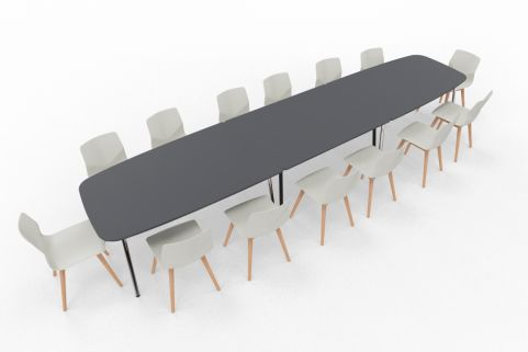 Four Real Table Ellipse & Chairs 4580mm X 1000mm Wide
