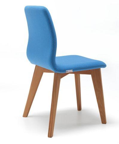 Cave Chair Light Blue Fabric Solid Oak Legs