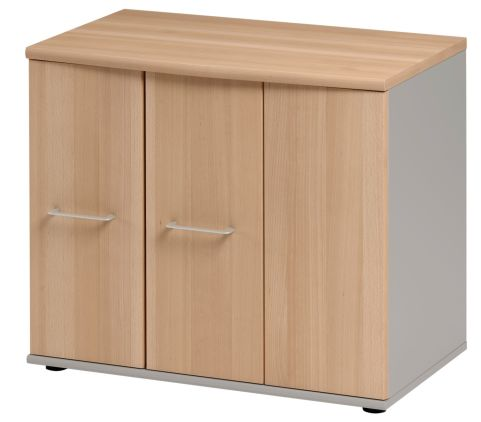 Jazz Low Cupboard With Folding Doors Beech