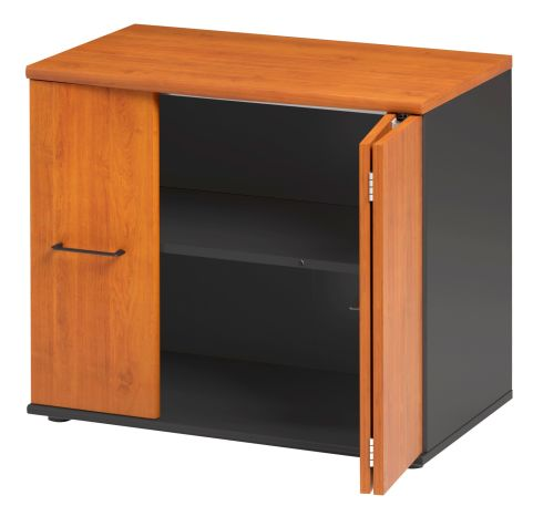Jazz Low Cupboard With Folding Doors Alder Folded View