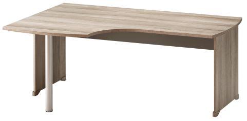Jazz Corner Desk With Side Panels Left Hand Grey Oak 1800mm