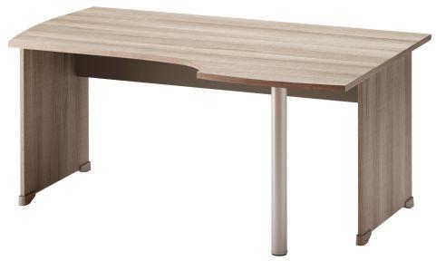 Jazz Corner Desk With Side Panels Right Hand Grey Oak