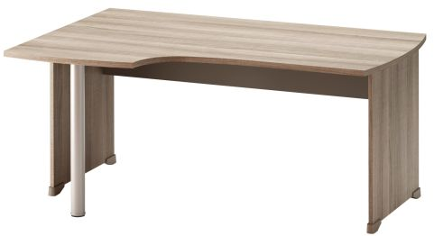 Jazz Corner Desk With Side Panels Left Hand Grey Oak