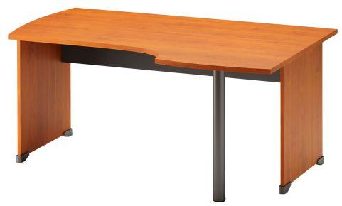 Jazz Corner Desk With Side Panels Right Hand Alder
