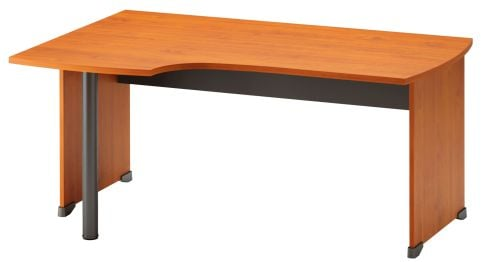 Jazz Corner Desk With Side Panels Left Hand Alder