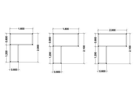 Impuls Dimensions Desking Units