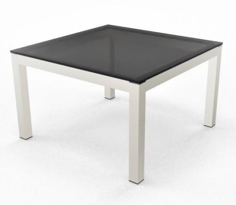 Impuls Coffee Table Back Glass White Legs