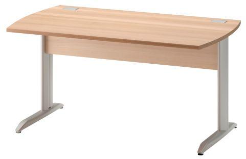 Jazz Desk With Metal Legs Beech 1400mm