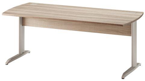 Jazz Desk With Metal Legs Grey Oak 1800mm