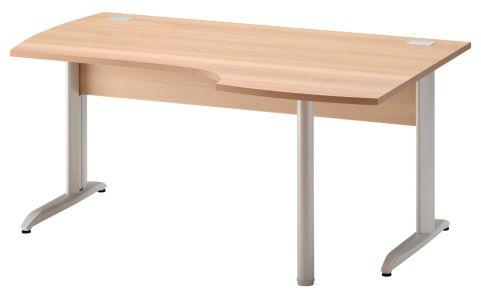 Jazz Corner Desk With Metal Legs Right Hand Beech