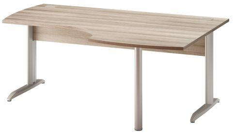 Jazz Corner Desk With Metal Legs Right Hand Grey Oak 1800mm