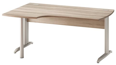 Jazz Corner Desk With Metal Legs Left Hand Grey Oak