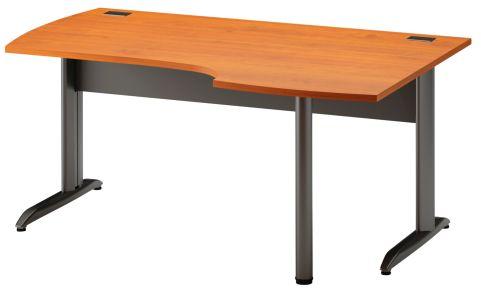 Jazz Corner Desk With Metal Legs Right Hand Alder