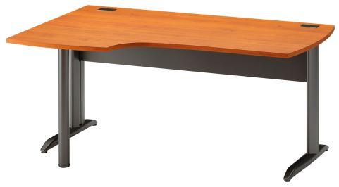 Jazz Corner Desk With Metal Legs Left Hand Alder