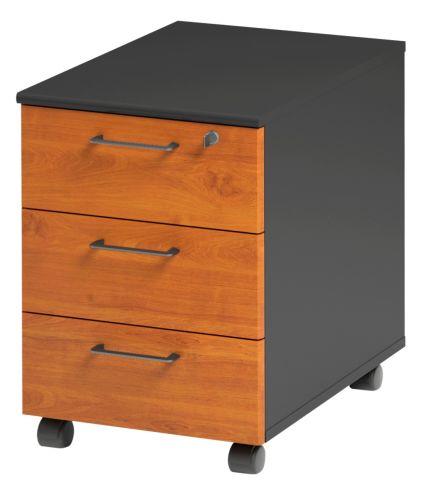 Jazz 3 Drawer Mobile Pedestal Alder