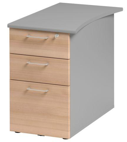 Jazz Desk Height Pedestal 800mm Beech
