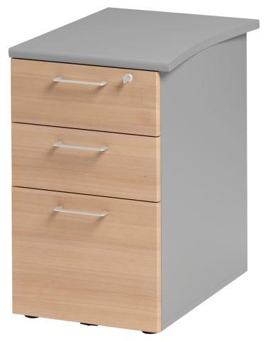 Jazz Desk Height Pedestal 610mm Beech