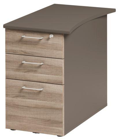 Jazz Desk Height Pedestal 800mm Grey Oak