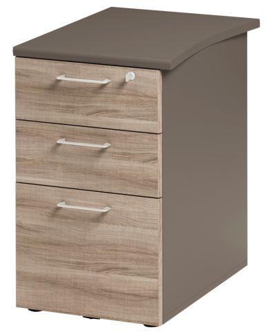 Jazz Desk Height Pedestal 610mm Grey Oak
