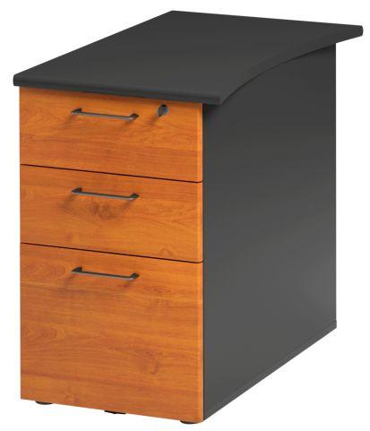 Jazz Desk Height Pedestal 800mm Alder