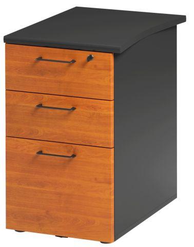 Jazz Desk Height Pedestal 610mm Alder