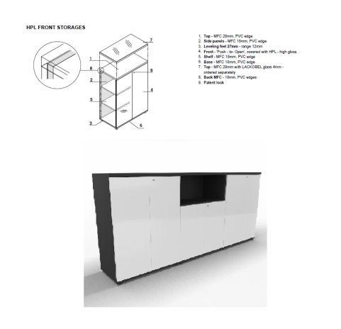 HPL Front Storage Solutions MDD FURNITURE