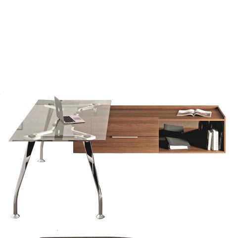 Segno Glass Desk Table Set Up