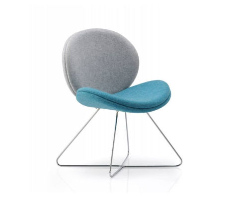 Giggler Chair Blue And Grey Fabric