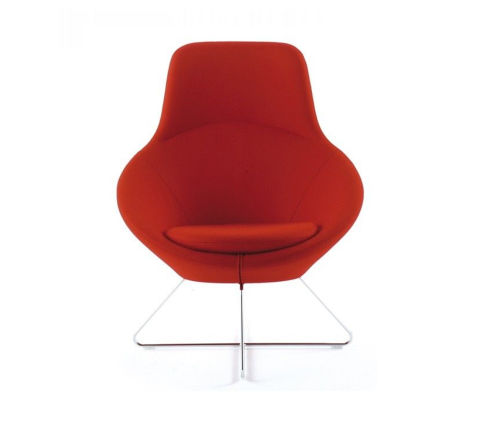 Conic Tub Chair Red Fabric