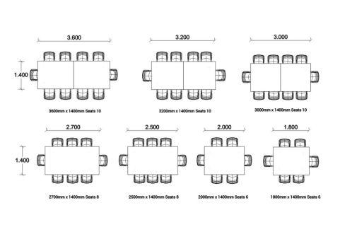 BODO Rectangular Table Dimensions