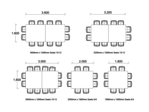 BODO Radius Corner Table Dimensions