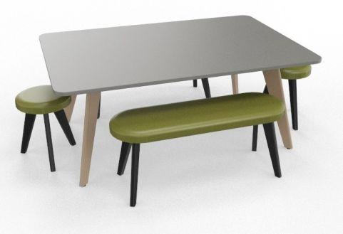BODO Coloured Boardroom Table Bundle Black