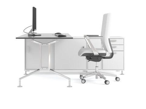 Ensa Executive Desk With Storage Return Unit