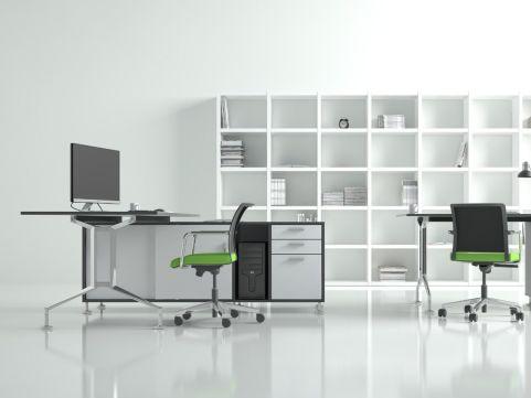Ensa Executive Desk With Storage Unit And Return