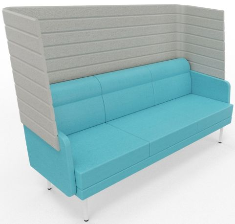 Versayde 3 Seater High Back Sofa Support Fabric