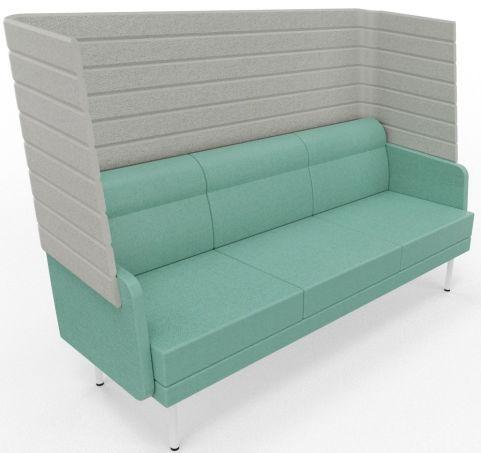 Versayde 3 Seater High Back Sofa Regard Fabric