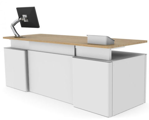 Sentio Desk Oak Double